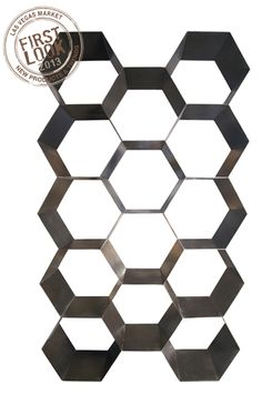 Noir& Bee Hive bookcase steals the show in contemporary interiors. Its metal frame forms a series of honeycomb-inspired shelves, boldly blending industrial a… Shelf Furniture, Diy Furniture Plans, Woodworking Furniture, Office Furniture, Metal Bookcase, Black Bookcase, Bee Hive Plans, Industrial Loft, Hexagon Shape