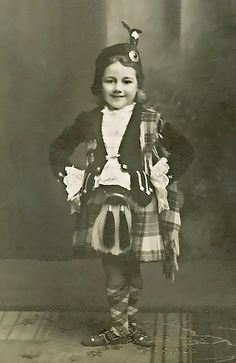 :::::::::: Vintage Photograph ::::::::::  Wee Highland Dancer ~ Mima Cooper.  Late 1930s in East Wemyss, Fife, Scotland