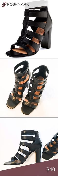 """Atwell Preston Caged Sandal These are NWOT Atwell Preston caged sandals. Never been worn. In excellent condition. Heel Height- 3.75"""". Leather upper. Reasonable offers accepted. Atwell Shoes Sandals"""