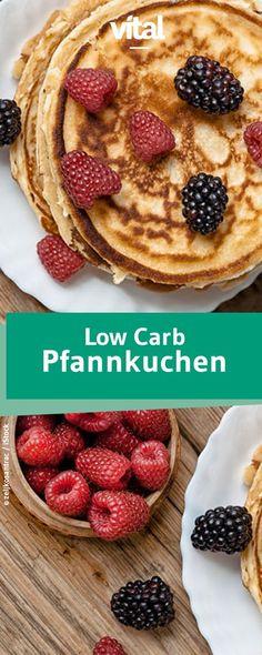 Diese Pfannkuchen schmecken mindestens so gut wie die Variante mit Zucker: Low Carb Pfannkuchen ohne Zucker und ohne Mehl. Müsst ihr probieren!