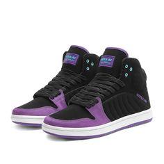 SUPRA S1W Shoe   Black / Purple - White