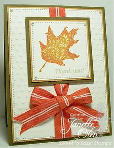 Fall thank you by blessingsX3 - Cards and Paper Crafts at Splitcoaststampers