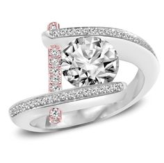 Rose & White Gold Unique Engagement Ring Modern Tension Set Two Tone Semi Mount 0.45 Tcw Brilliance Engagement (Fine Jewelry Direct Manufacturer ~ 50% - 80% Off Retail),http://www.amazon.com/dp/B00D28OEK4/ref=cm_sw_r_pi_dp_FhYtsb0G7NBPHXF7