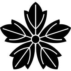 五つ葉牡丹(いつつはぼたん) Japanese Family Crest, Japanese Logo, Japanese Artwork, Chip Carving, Design Tattoo, Nihon, Embroidery Art, Traditional Design, Laser Engraving
