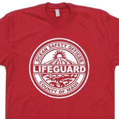 maui hawaii t shirt vintage lifeguard t shirt