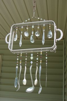 """""""Hello Missy"""" will bring their vintage re-purposed silverware wind chimes to the the Vintage Market! So sweet, so simple!"""