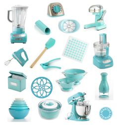 Any kitchen aid accessory in aqua sky color...target has a few things :)  I do have a few of these already!