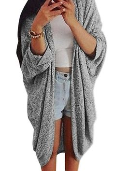 New Arrival 2017 Women Casual Oversized Knit Sleeve Sweater Coat Polyamide Cardigan Jacket Tops Fall Outfits, Casual Outfits, Cute Outfits, Fashion Outfits, Spring Summer Fashion, Autumn Winter Fashion, Fall Fashion, Looks Style, My Style