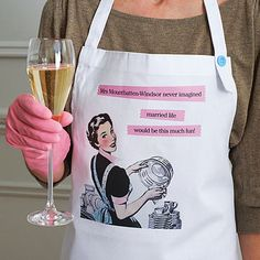 Hehe this is funny - Personalised Married Life Apron.