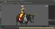 yama on his bull 3d model ma mb 1