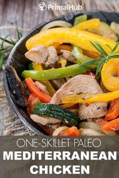 One Skillet Paleo Me One Skillet Paleo Mediterranean Chicken #paleo #mediterranean #chicken #glutenfree #skillet #healthy https://www.pinterest.com/pin/163114817736595762/