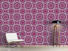 Design #Tapete Retro Kreise