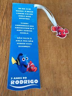 Convite para agenda Procurando Nemo