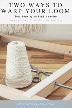 Weaving How To: Warping Low vs. High Density 2019 The best two ways to warp a weaving loom tutorial. The post Weaving How To: Warping Low vs. High Density 2019 appeared first on Weaving ideas. Tapestry Weaving, Loom Weaving, Hand Weaving, Weaving Projects, Craft Projects, Craft Ideas, Textiles, Weaving Patterns, Weaving Designs