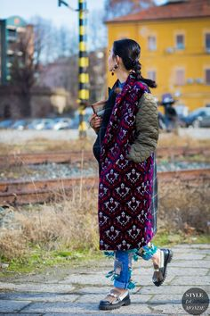 Sherry Shen Street Style Street Fashion Streetsnaps by STYLEDUMONDE Street Style…