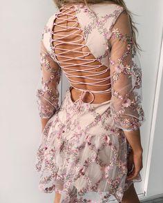 The back on this 'Far Far Away' dress.  New to #tigermist