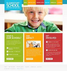 Template 48443 - Kindergaten & Children Responsive Website Template ...