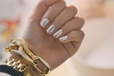 Silver to Gold Chrome Nails