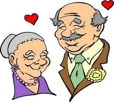 October International Day of Older Persons Gifs, Happy Grandparents Day, Senior Humor, Grow Old With Me, Little Bit Of Love, Old Person, Cartoon Kunst, Old Couples, Grandma And Grandpa
