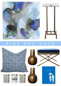 Web Store Wish List: Blue and Gold. Shop at http://www.summerhousestyle.com