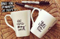 Writing on coffee mugs