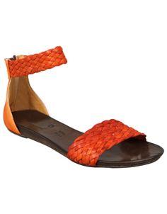 two tone orange shoes