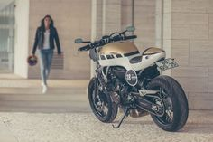 "Yamaha MT-07 Cafe Racer ""CS_09 Stellar"" by It roCkS!bikes #caferacergirl #motorcyclesgirls #chicasmoteras 