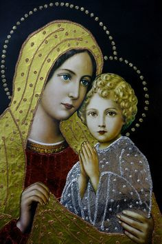 Virgin Mary and God Child  25 Apr 2008, Chatenay-Malabry, France --- Coptic Orthodox Icon of Virgin and Child --- Image by © © Philippe Lissac /Godong/Corbis