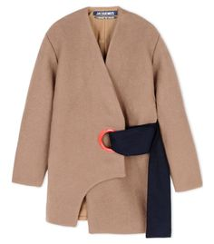 Jacquemus Wool Camel Eyelet Coat
