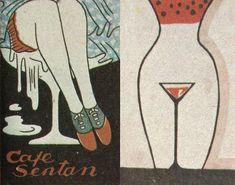 """昭和スポット巡りさんのツイート: """"戦前 カフェー マッチラベル… """" Pulp, Matchbox Art, Vintage Advertisements, Vintage Ads, Vintage Graphic Design, Retro Design, Billboard, Japanese Illustration, Match Boxes"""