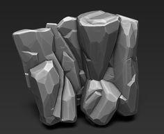 Environment Concept Art, Environment Design, Stone Game, Digital Sculpting, Hand Painted Textures, Modelos 3d, 3d Texture, Brick And Stone, Environmental Art