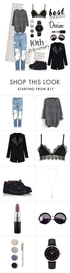 """Celebrate Our 10th Polyversary!"" by r-bye ❤ liked on Polyvore featuring Topshop, Ermanno Scervino Lingerie, Pons Quintana, Eloquii, MAC Cosmetics, Linda Farrow, Terre Mère, CLUSE, denim and jeans"