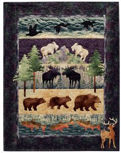 Moose Junction Wall Quilt by McKenna Ryan pattern $10.50 on Pine Needles at http://pineneedles.com/SuperStore/SuperStore-Product.asp?ProductID=144