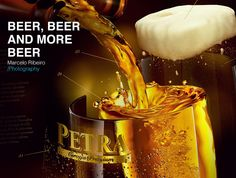 """Board """"beer, beer and more beer"""" (and cover photo), of the advertising photographer Marcelo Ribeiro.   #MRibeiroPhoto #Beer #Drink"""