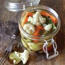Giardiniera recipe from williams-sonoma.com. I wish I would have seen this two weeks ago.