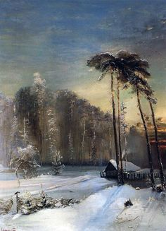 Alexei Savrasov was a Russian landscape painter. Winter Landscape, Landscape Art, Landscape Paintings, Russian Painting, Russian Art, Winter Painting, Winter Art, Great Paintings, Beautiful Paintings