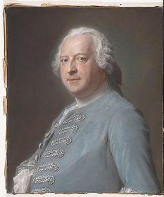 """Jean Charles Garnier d'Isle (1697–1755), Maurice Quentin de La Tour  (French, Saint-Quentin 1704–1788 Saint-Quentin) ca. 1750. Garnier d'Isle, """"dessinateur des jardins du roi,"""" designed the parks and gardens of Bellevue and Crécy for the royal mistress of Louis XV, Madame de Pompadour."""