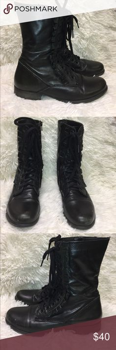 Betsey Johnson Black Ruffle Combat Boots Size 7 Betsey Johnson Black Ruffle Combat Boots Size 7. These boots do have some scuffing on the toes. Betsey Johnson Shoes Combat & Moto Boots