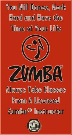ZUMBA! Always take class from current licensed instructors... Just visit the zumba.com website and look up the name to see if your instructor is listed.