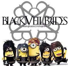 ERMAHGERD! Black Veil Brides minions!!