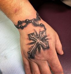 Hand Tattoos for Guys A Cross . Hand Tattoos for Guys A Cross . Celtic Tattoos for Men Little Cross Tattoos, Unique Cross Tattoos, Simple Cross Tattoo, Cross Tattoo Designs, Best Tattoo Designs, Rosary Tattoo On Hand, Cross Tattoo On Hand, Cross Tattoo For Men, Celtic Tattoos For Men