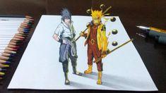 Naruto Rikudou Sennin and Sasuke Rinnegan Supremo 3D