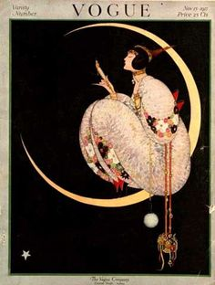 "Vogue magazine cover  ~ November 1917 This and the other cover were my first ""art posters"" I bought when I first had a place-tho shared-of my own"