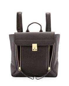 e094509b9d25 Pashli Leather Zip Backpack