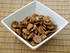 A quintessential southern and very addictive cocktail nibble  - toasted pecans