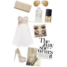 A fashion look from March 2015 featuring Giuseppe Zanotti pumps, Yves Saint Laurent clutches and Linda Farrow sunglasses. Browse and shop related looks.