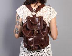vintage 80s-90s i. medici leather backpack #boho #preppy #festival