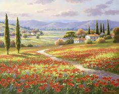 Poppy Fields By Sung Kim 39743: