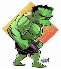Marvel Fan Art, Hulk Marvel, Marvel Heroes, Hulk Avengers, Chibi Characters, Marvel Characters, Marvel Cartoons, Marvel Comics, Chibi Marvel