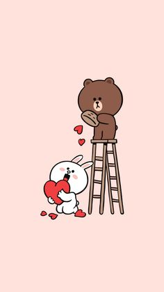 Cony Brown, Brown Brown, Cute Images, Cute Pictures, Line Brown Bear, Cute Wallpapers, Desktop Wallpapers, Aesthetic Pastel Wallpaper, Line Friends